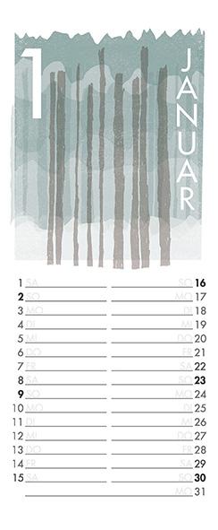 Januar – Aus meinem Kalender 2011. Mit den Pfeiltasten kann man sich durch die Monate navigieren.